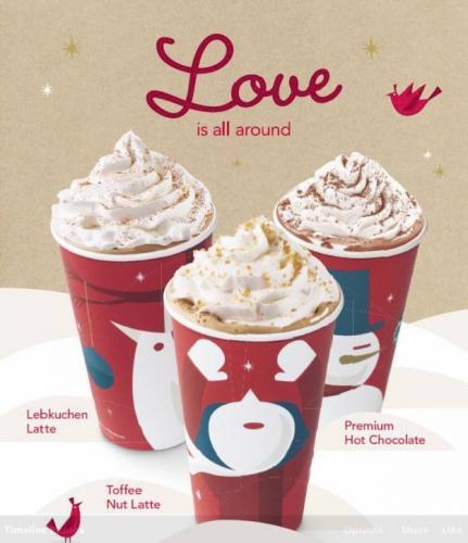 [Starbucks] 2 für 1 auf Weihnachtsgetränke vom 24.-26.12.