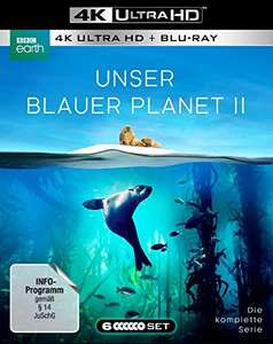 Bei Amazon - UNSER BLAUER PLANET II - 3 Blu-ray-4K Ultra HD + 3 Blu-ray-2D