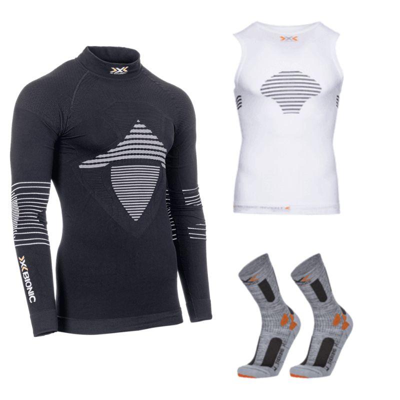 X-Bionic Funktionswäsche und Sportsocken jetzt bis zu 88% reduziert, T-Shirts ab 8,99€, Longssleeves ab 14,39€