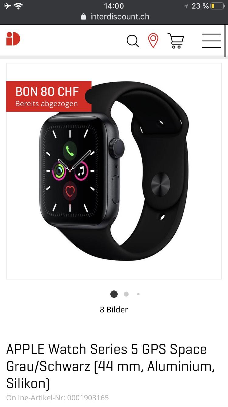 (Schweiz) Apple Watch Series 5 44m GPS, interdiscount