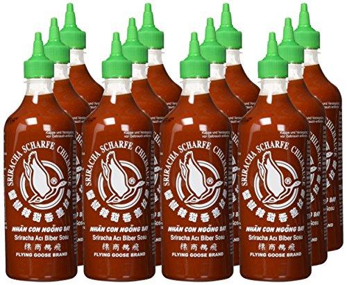 Preisfehler [Prime] Flying Goose Chilisauce Sriracha, 12er Pack (12 x 730 ml) (Mindestabnahme 2x)