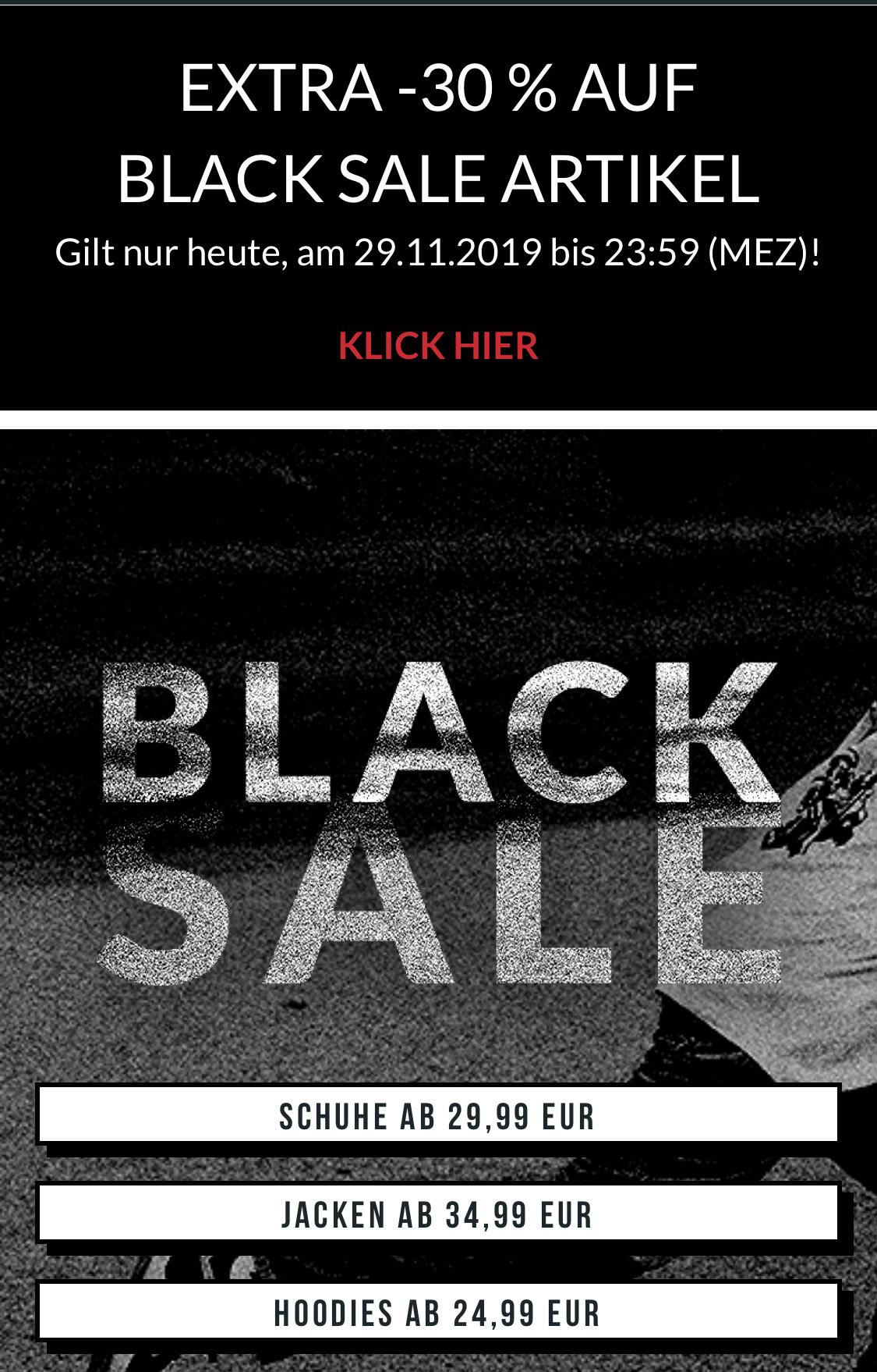 30% Black Friday Sale bei skatedeluxe.com