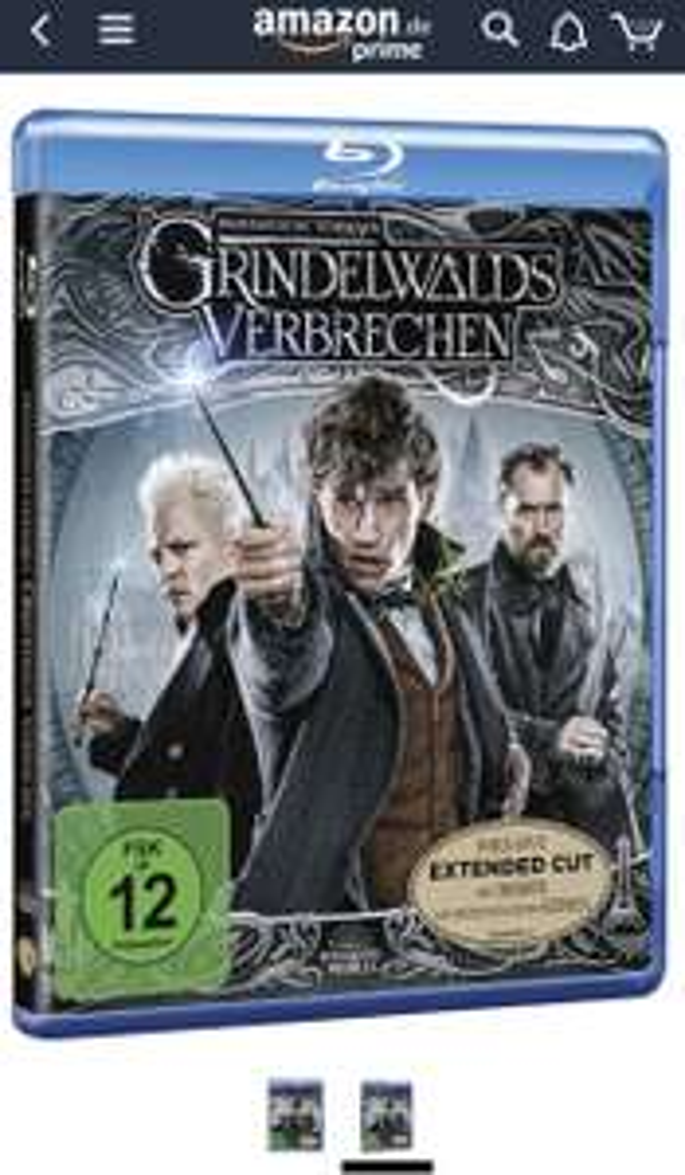 [Prime Only] Phantastische Tierwesen: Grindelwalds Verbrechen (Kinofassung + Extended Cut) [Blu-ray]