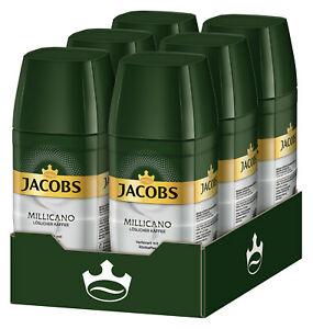 JACOBS Löskaffee Millicano - 6 x 100g Gläser Instantkaffee für 24,95€