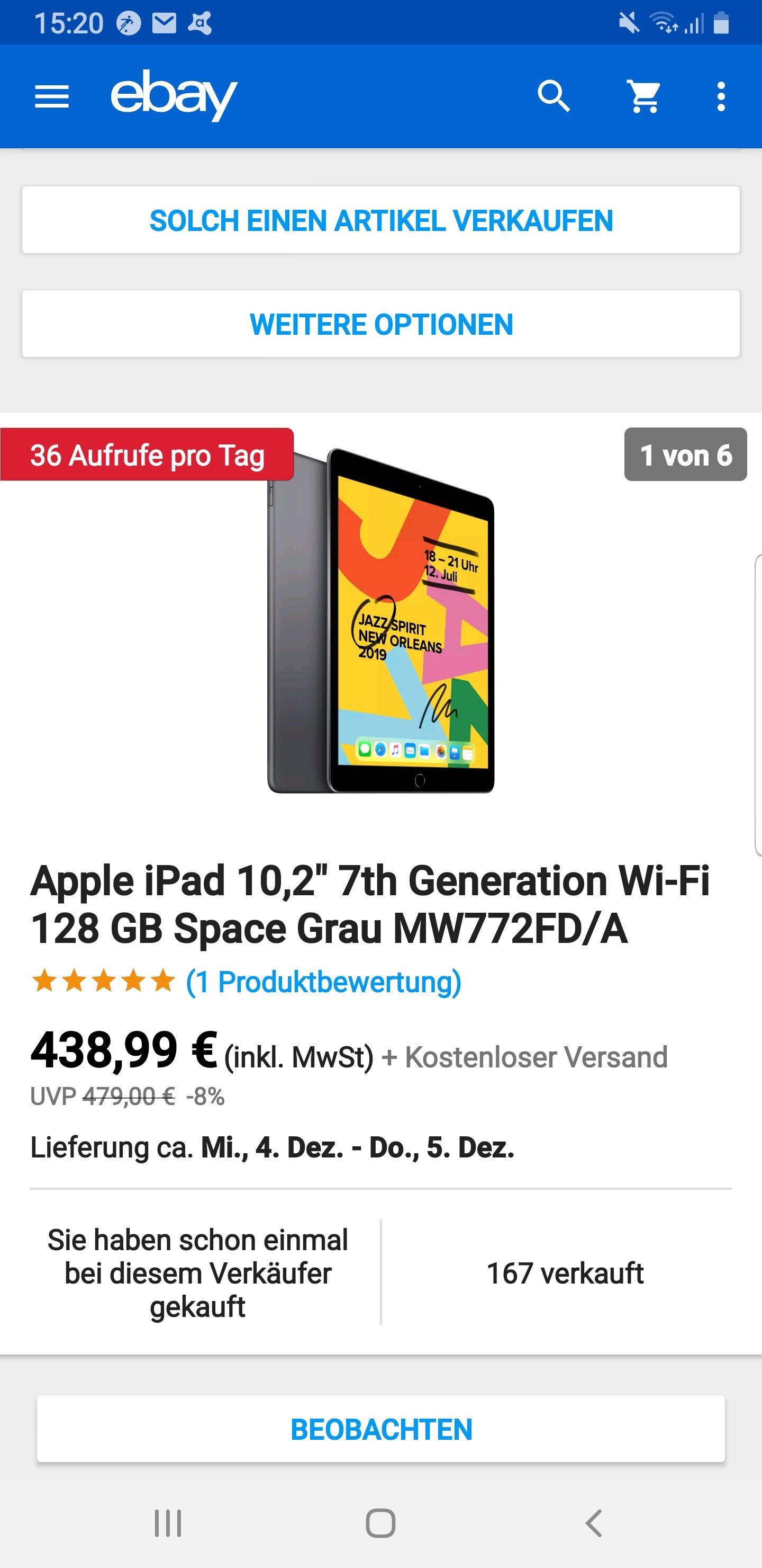 Black Friday Deal - Apple iPad 10,2 128GB 408,99€