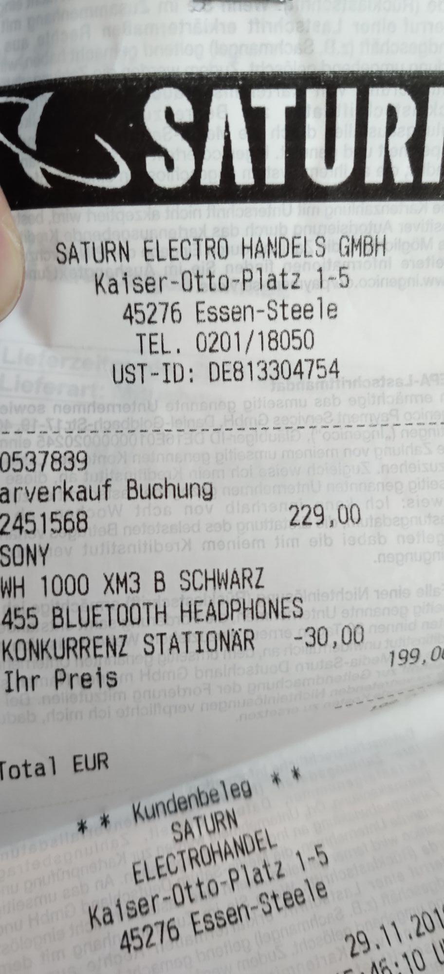 Sony WH-1000XM3 Kopfhörer [Lokal Essen]