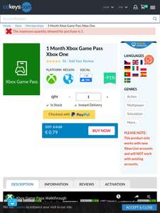 Game pass Xbox one