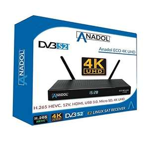 [Amazon] Anadol ECO 4K V2 Satellite Receiver Linux UHD 2160p H.265 HEVC E2 Linux Dual WiFi