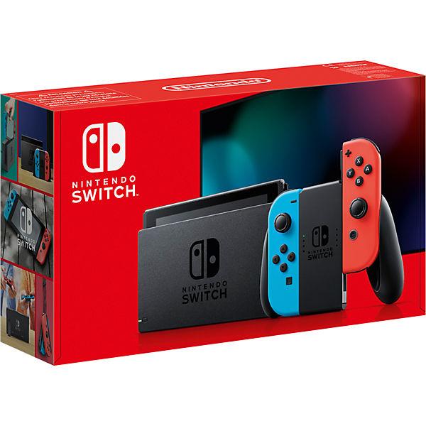 Nintendo Switch (neue Version) Neon-Rot/Neon-Blau für 270,94€ bei Zahlung per Paydirekt (MyToys)
