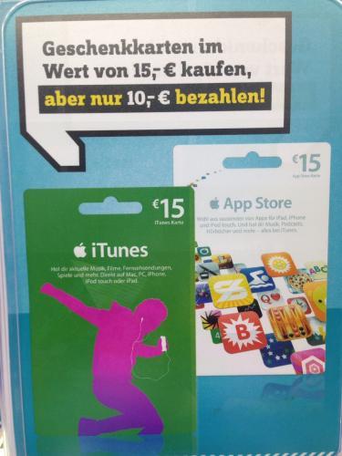 Conrad in Essen 15€- iTunes Guthaben 33% günstiger