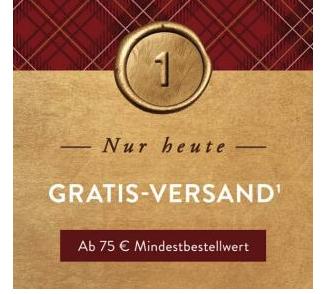 Brands4Friends Adventskalender: Kostenloser Versand am 01.12.19 ab 75€ MBW // -6,90€