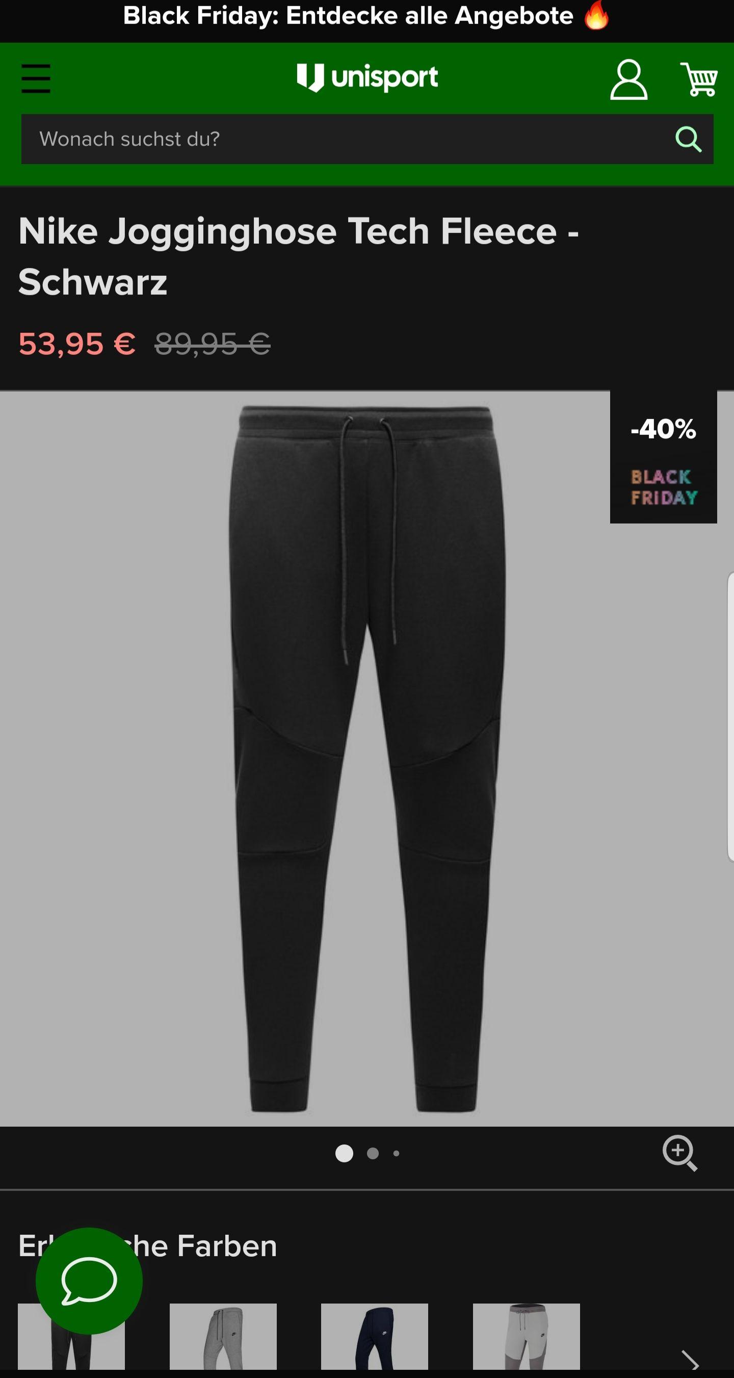 Nike Jogginghose Tech Fleece - Schwarz
