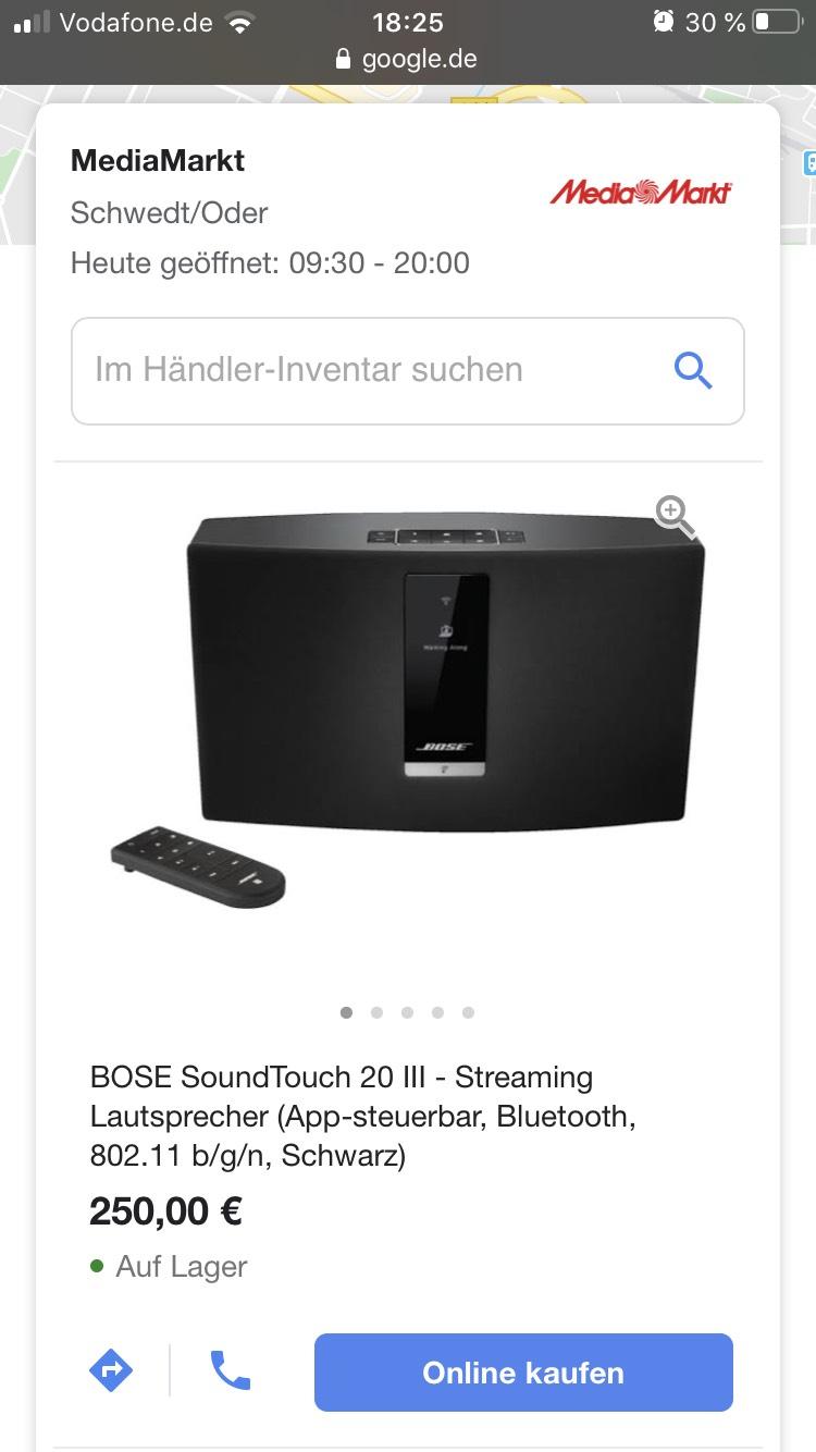 LOKAL Schwedt/Oder MM Bose SoundTouch 20 Serie III