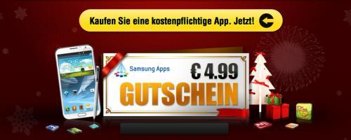 [Android] Samsung Apps - jetzt App kaufen und im Januar 4,99-App-Gutschein