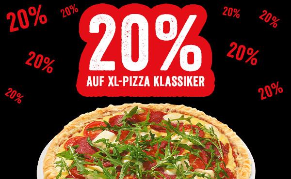Smiley's 20% auf XL Pizzen MBW €5,90