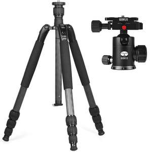 Sirui N-1204SK Kamerastativ + Sirui G-10X Stativkopf | Umgelabelt zu Sirui KN1 Carbon Stativ + G-10KX Kugelkopf