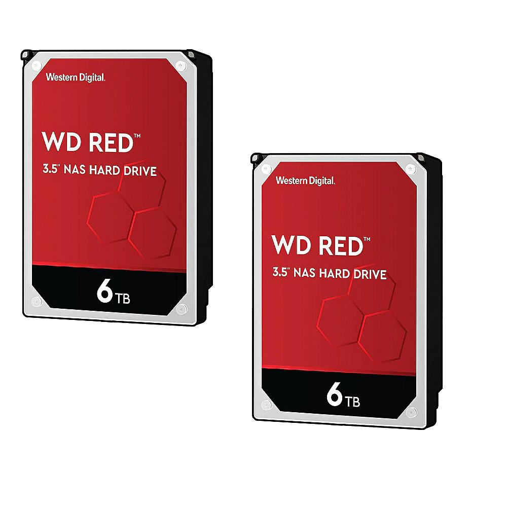 WD Red 2er Set WD60EFAX - 6TB 5400rpm 256MB 3,5 Zoll SATA 6 Gbit/s