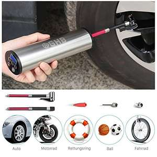 [Amazon] GHB Mini Auto-Luftpumpe Elektrischer Luftverdichter für Fahrrad Ball Ballon 150 PSI Portabel Aufladbar mit LCD-Display