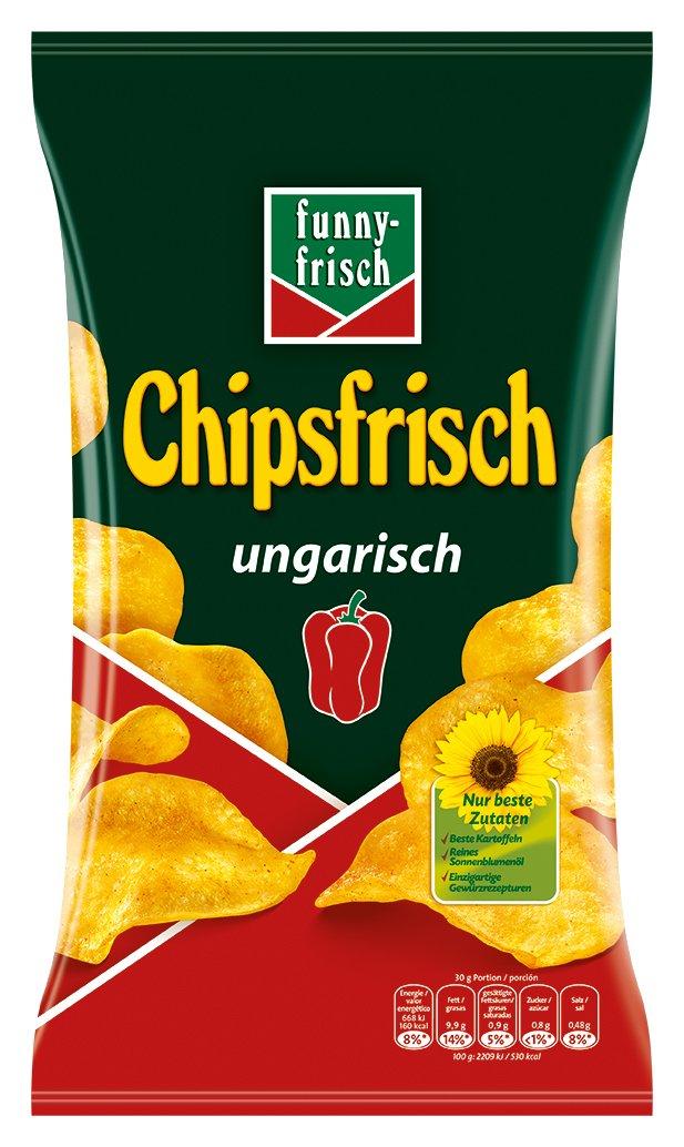 funny-frisch Chipsfrisch ungarisch 10x175g für 8,36€ via Prime Abo, andere Sorten für 9,02€ via Prime Abo