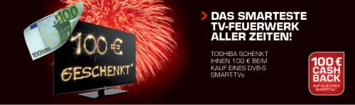 100€ Cashback auf ausgewählte Toshiba Fernseher - gültig ab Mitternacht (!)