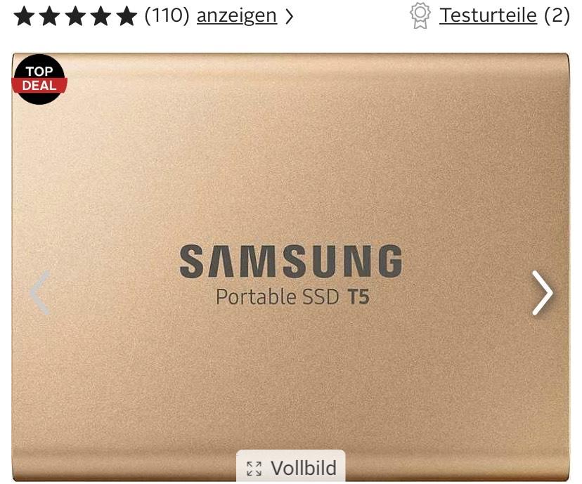 Samsung Portable SSD T5 500 GB externe Festplatte