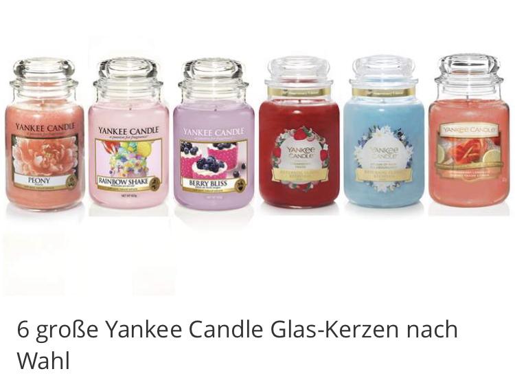 (Groupon) Yankee Candle 6 Stück im Set / Einzelpreis 12,50€