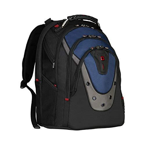 Wenger 600638 IBEX 17-Zoll-Laptop-Rucksack, Triple schützen Fach mit iPad/Tablet / eReader Pocket in blau {23 Liter}
