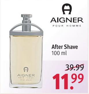 Aigner pour homme After Shave Lotion 100 ml [Rossmann]