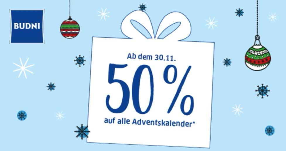 Adventskalender 50% bei Budni (Hamburg, Lokal)