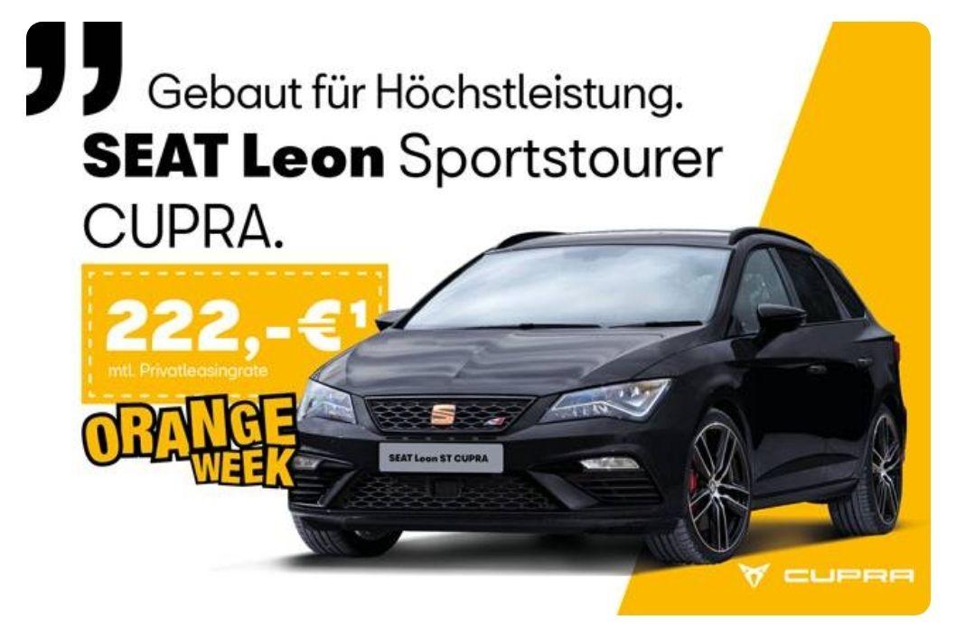 [Privatleasing] SEAT Leon ST Cupra 300 DSG 4Drive für 222 EUR (vorkonfiguriert, sofort verfügbar)