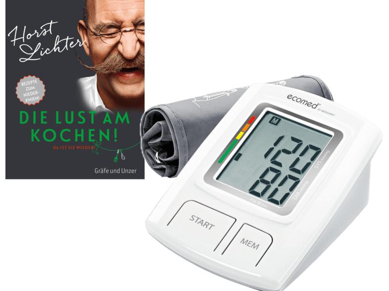 (MM) Blutdruckmessgerät MEDISANA Ecomed BU 92E + Kochbuch