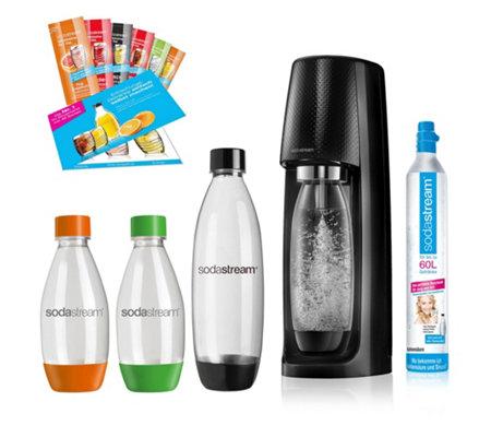 SodaStream Easy / 4 Flaschen / Zylinder / Sirupproben