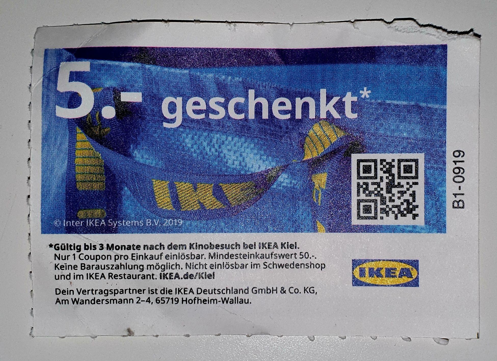[lokal] Kiel IKEA Gutschein 5€ ab 50€ Einkaufswert