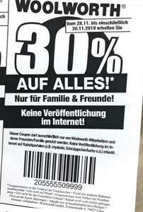 Woolworth 30% auf alles Black Friday Deal