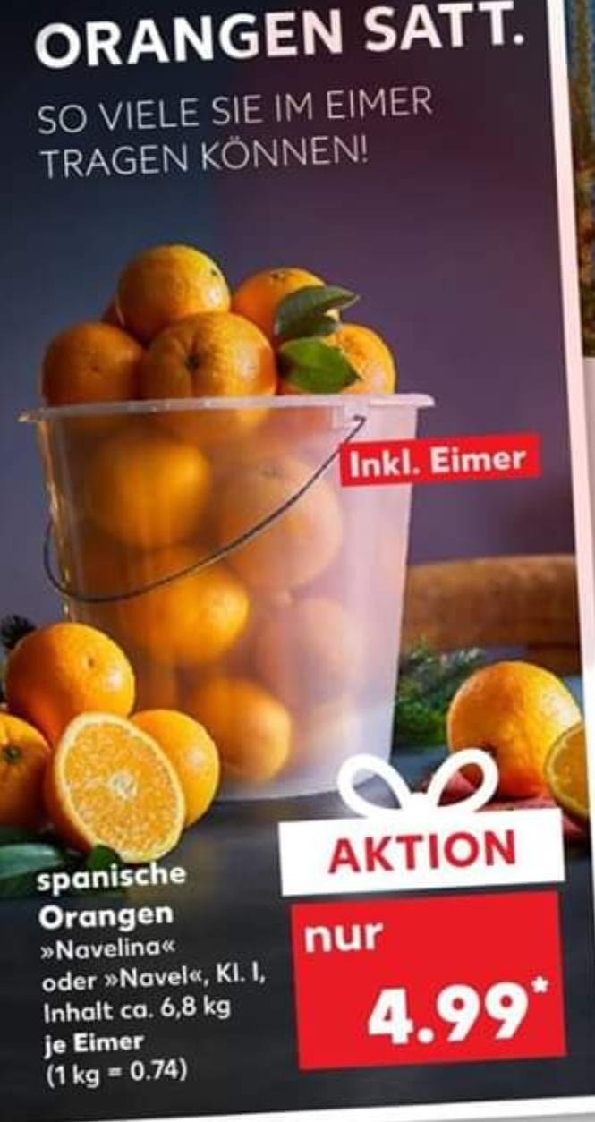 (Kaufland ab 5.12.) Eimer Orangen (mind. 6,8kg) für 4,99€