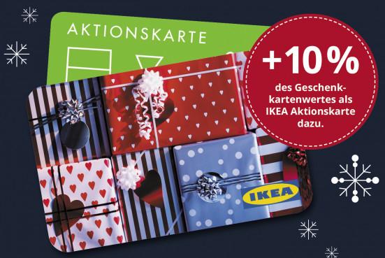(ausgewählte Filialen) IKEA: 10€ Aktionskarte beim 100€ Geschenkkartenkauf gratis dazu
