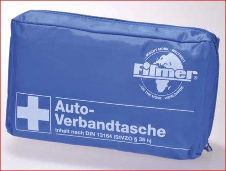 Filmer KFZ-Verbandtasche nach DIN 13164 für 3,99 Euro / Filmer KFZ-Verbandkasten für 4,99 Euro [Zimmermann]