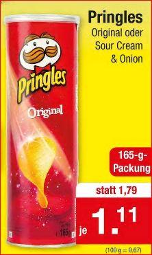 Pringles Chips Original oder Sour Cream & Onion für 1,11 Euro [Zimmermann]