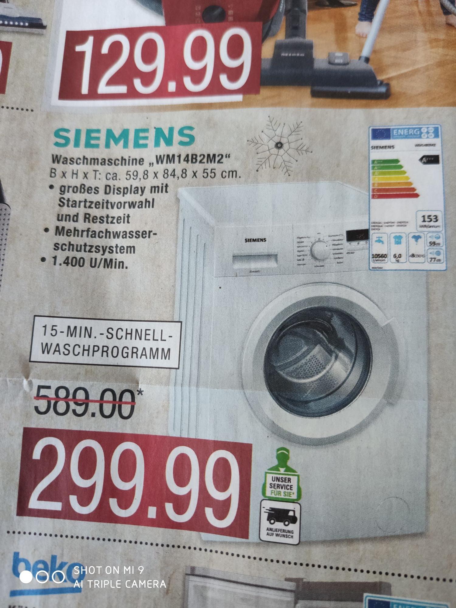 [Marktkauf] Siemens Waschmaschine WM14B2M2