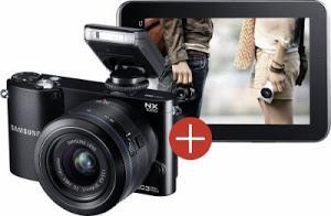 System-Kamera NX1000 + Galaxy Tab2 im Set