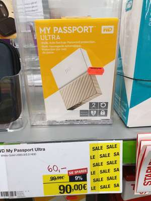 WD 2.5 Zoll 2TB externe HDD bei Staples