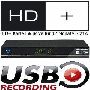 MEDION HDTV Sat-Receiver mit USB Recording und HD+ Karte (inkl. Versand)