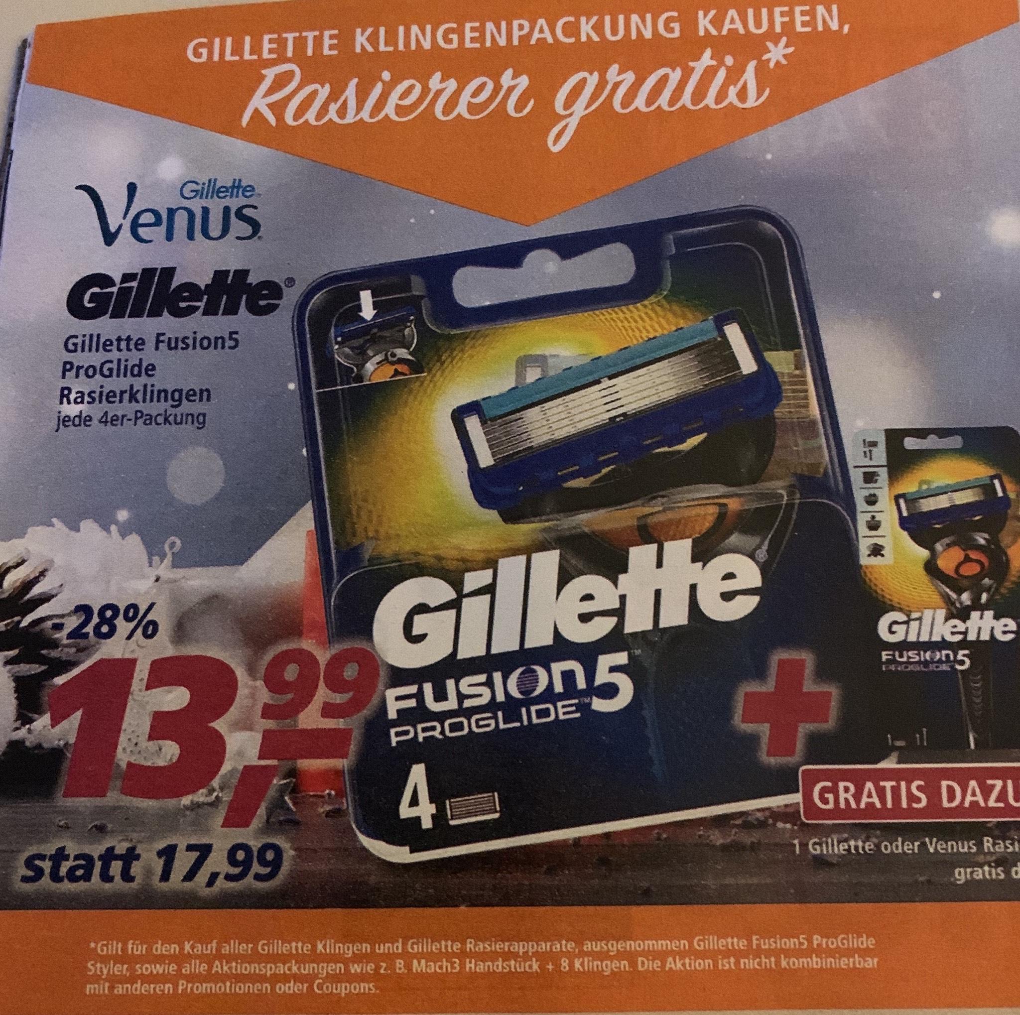 Gillette Fusion 5 Proglide + Handstück bei Real
