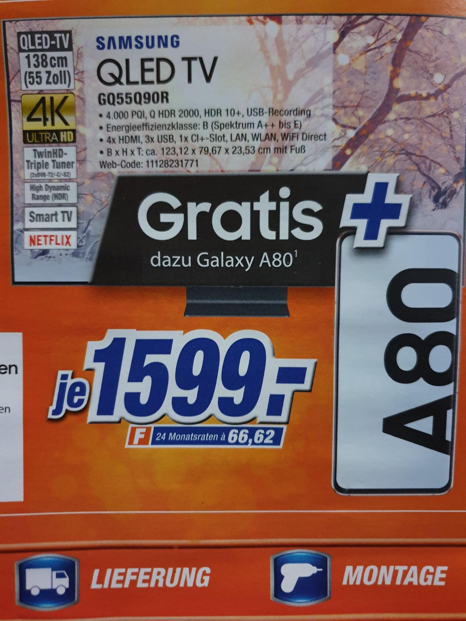 (Lokal Bielefeld) Samsung GQ55Q90R + Handy A80/ Premium-TV mit Connect-Box