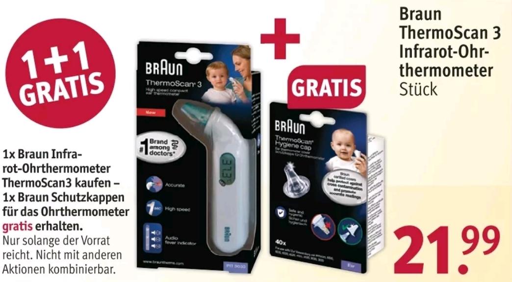 Braun Thermo Scan3 kaufen und 1x Schutzkappen gratis dazu bei Rossmann