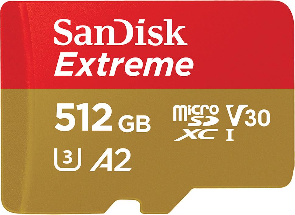 SanDisk Extreme A2 U3 V30 microSDXC 512GB für 101,53€ inkl. Versandkosten
