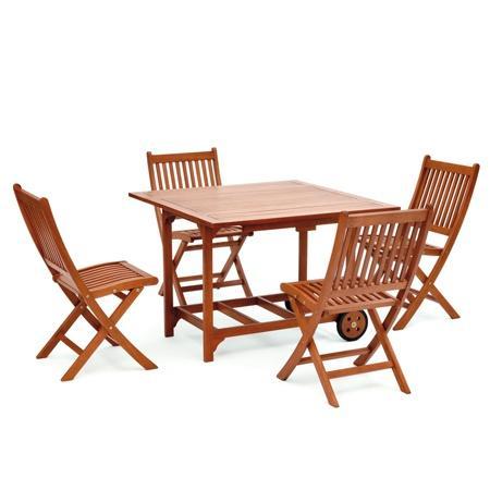 Belardo Minoa Balkonset Eukalyptus * 4 Stühle + Tisch * EUR 129,99 inkl. Versand @t-online-shop.de