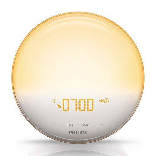 Philips HF3520/01 Wake-Up Light (Sonnenaufgangfunktion, digitales FM Radio, Tageslichtwecker)