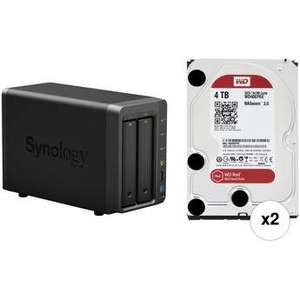Synology DiskStation 718+ 2-Bay NAS + 2x WD RED 4TB Festplatte