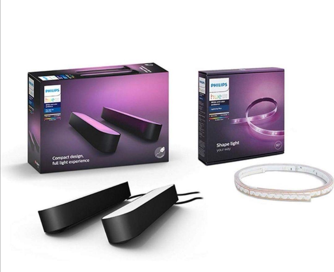 [Amazon UK] 2x Philips Hue Play Light Bar + Hue Light Strip Basis (oder 3x Hue Play Light Bar: ausverkauft)